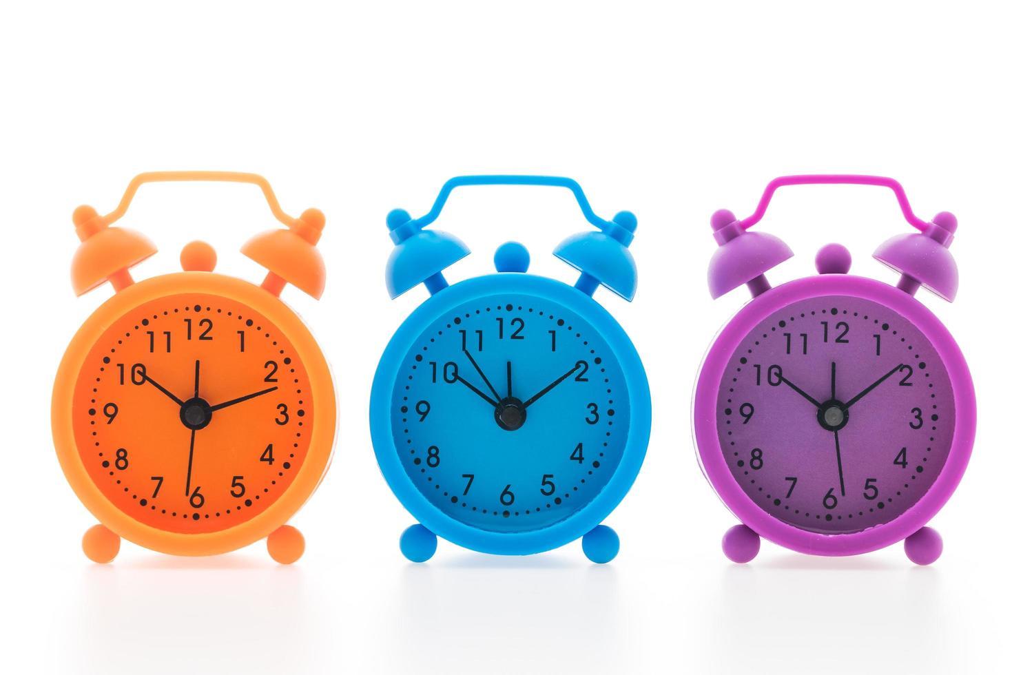 färgglada väckarklockor foto
