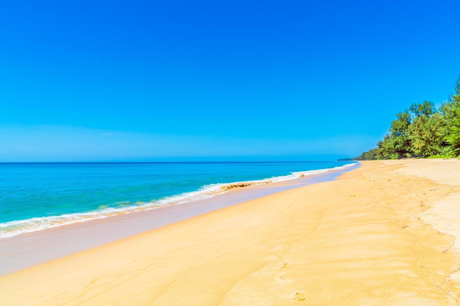vacker strand och hav foto