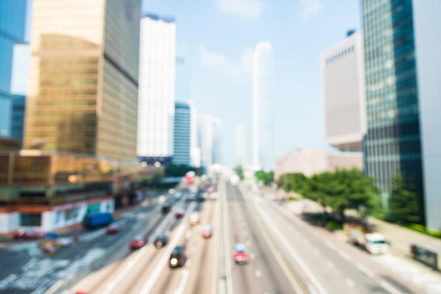 abstrakt oskärpa Hong Kong City bakgrund foto