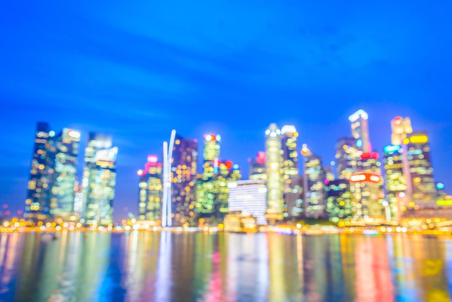 abstrakt defokuserad singapore stadsbakgrund foto