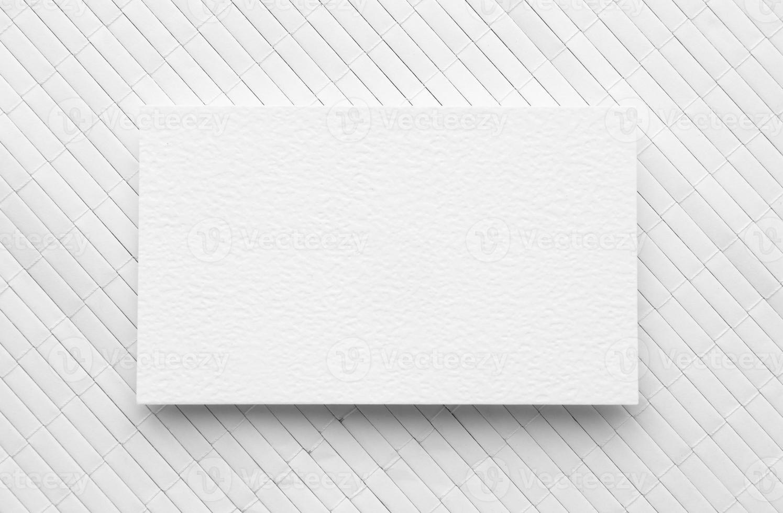 platt låg kopia utrymme visitkort vit bakgrund foto