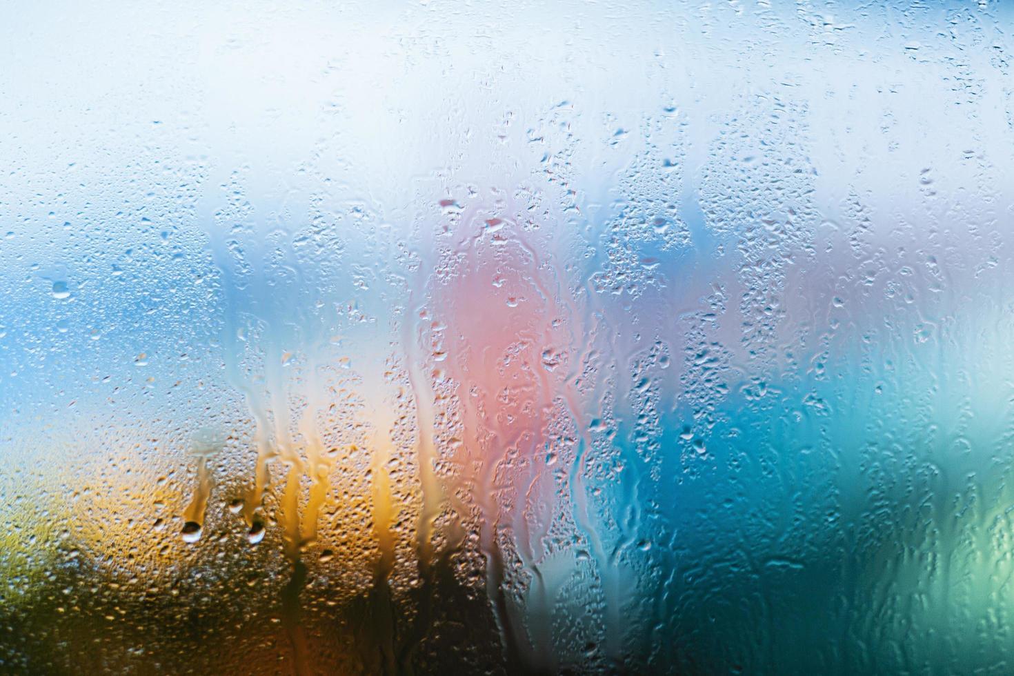 bakgrund regndroppar på nära håll foto