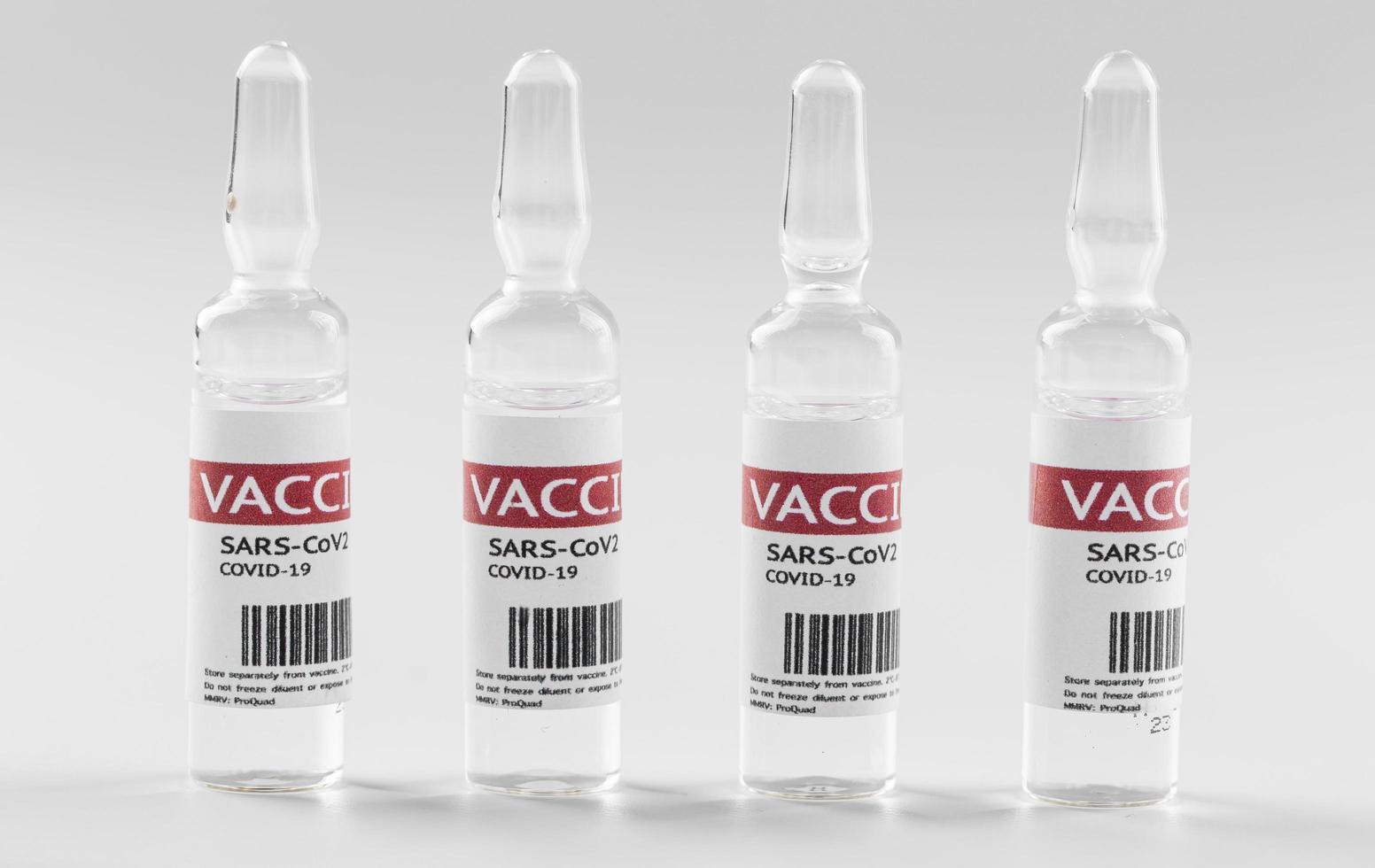 förebyggande flaskor med koronavirusvaccin foto