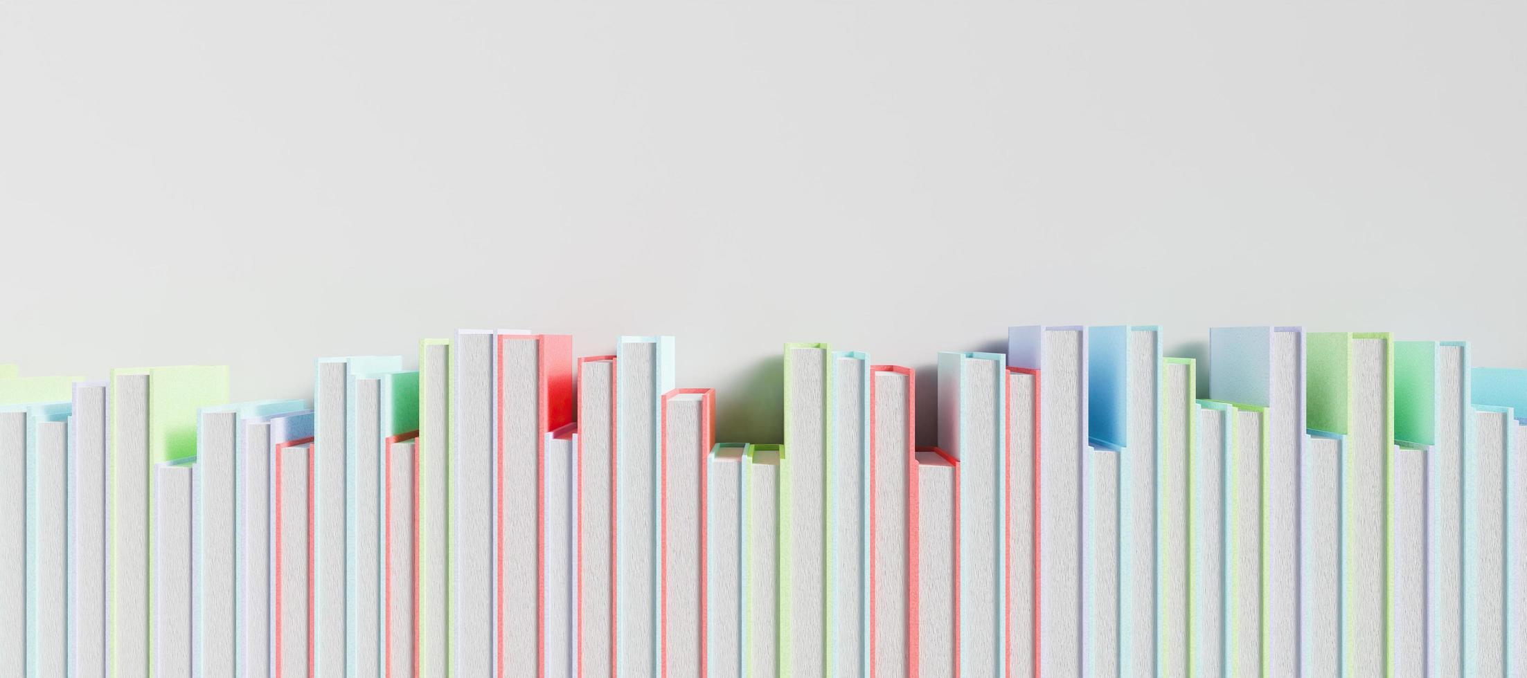 banner av en rad färgade böcker foto