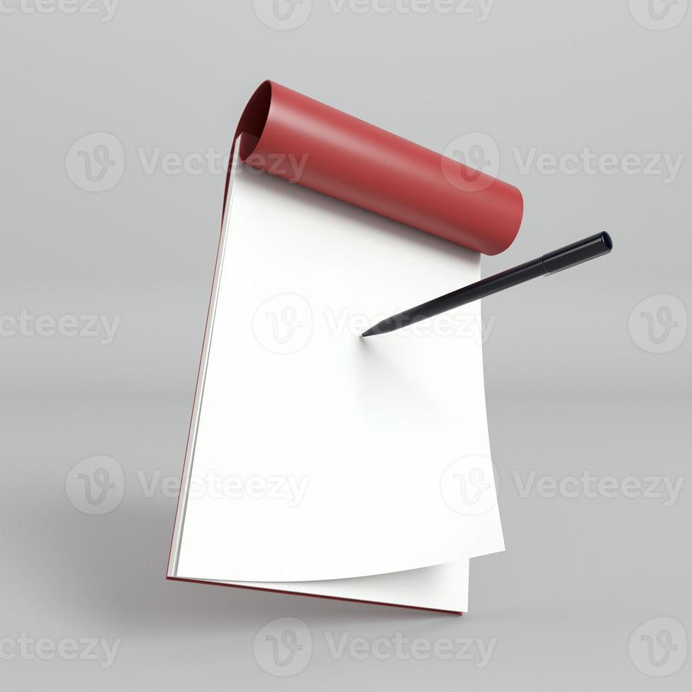 blädderblockpapper och penna foto