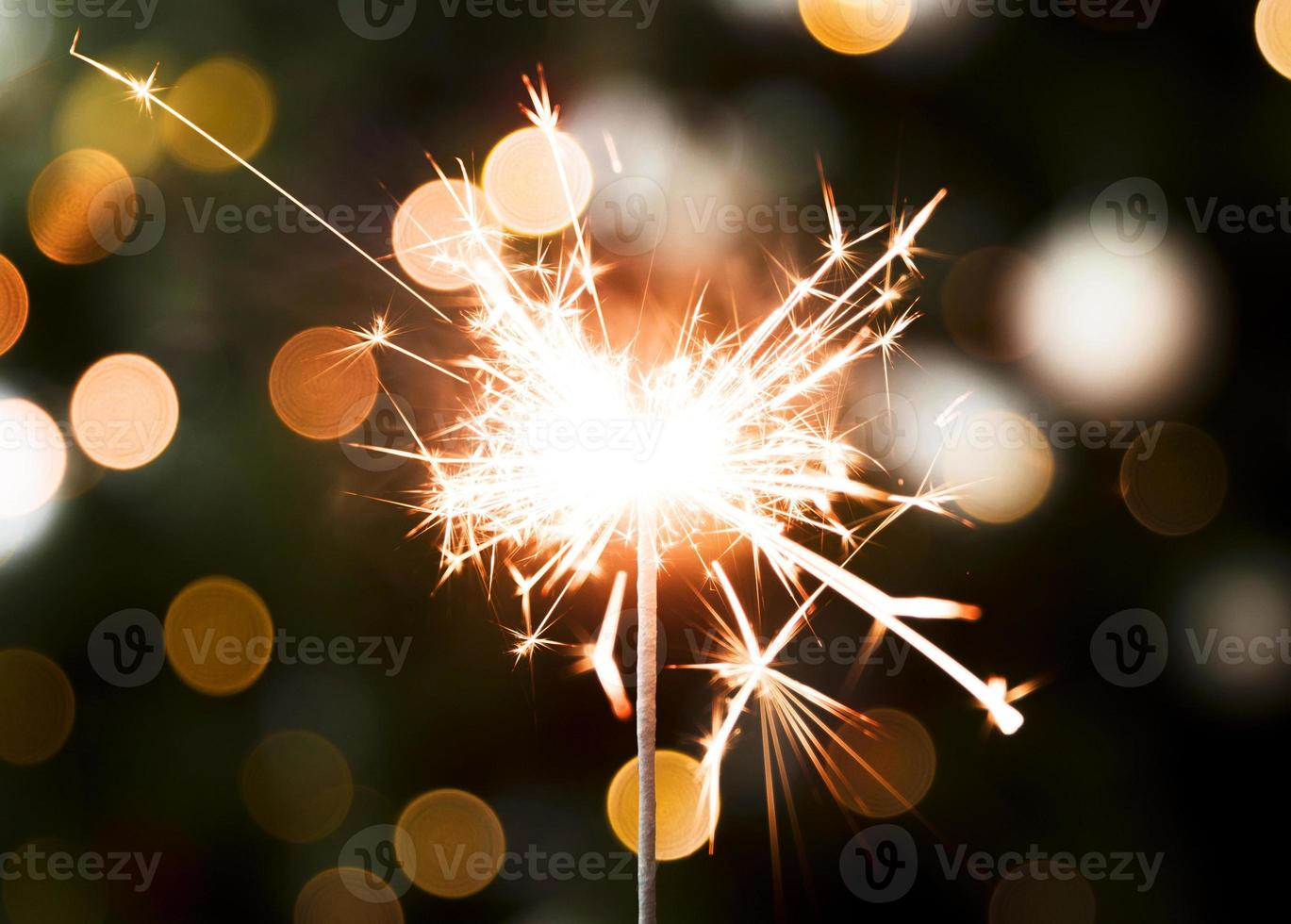 gyllene jul bokeh lampor foto