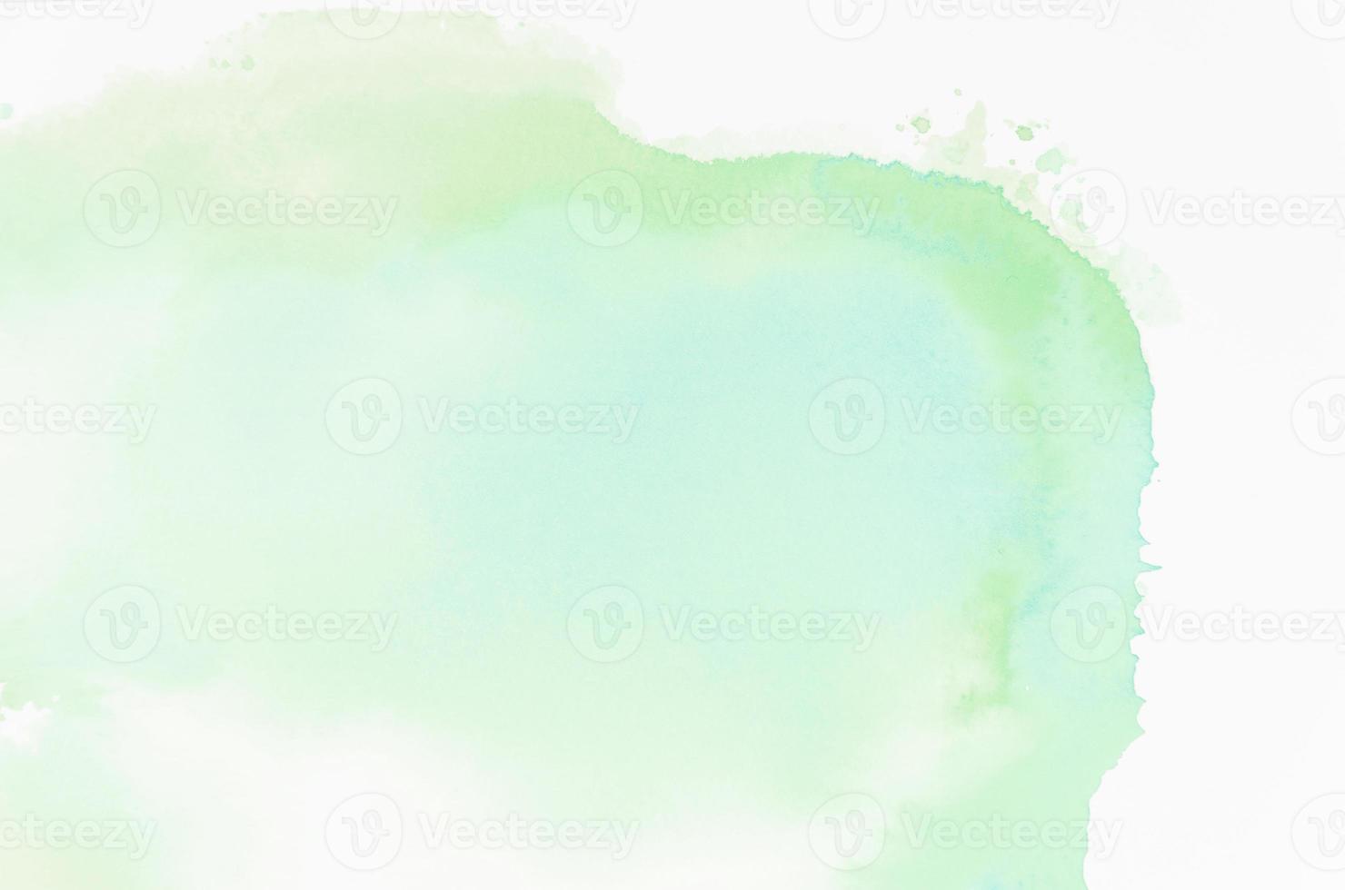 grön abstrakt akvarell textur bakgrund foto