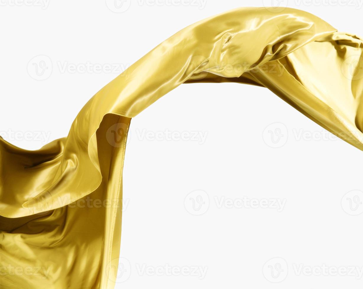 vackert abstrakt guld siden med kopia utrymme foto