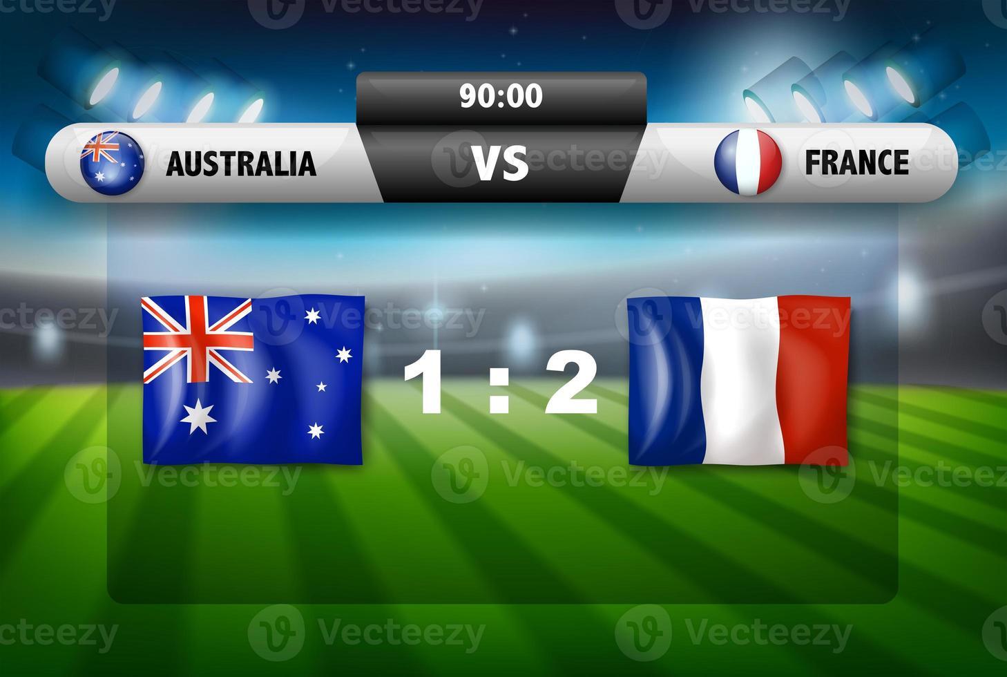 australien vs frankrike resultattavla foto