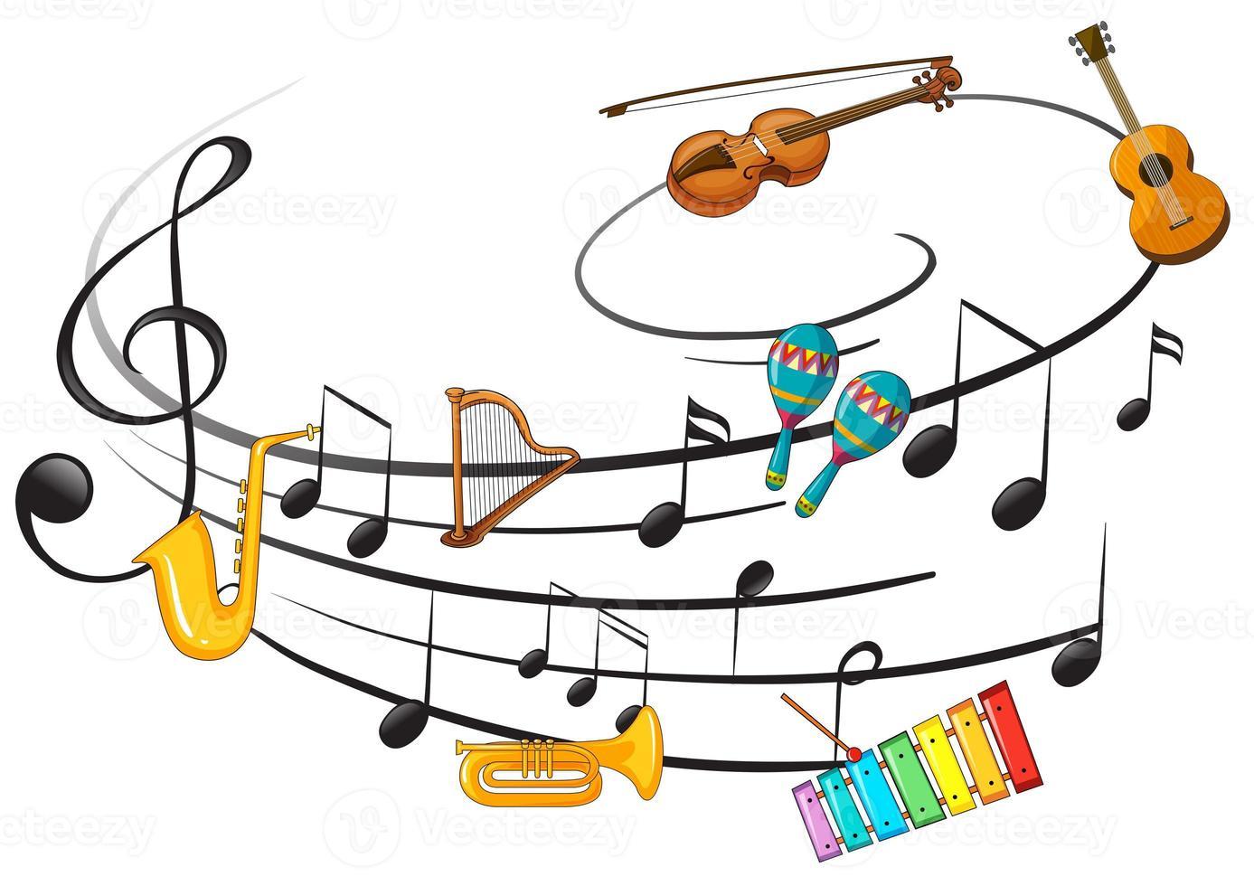 musikinstrument med not foto