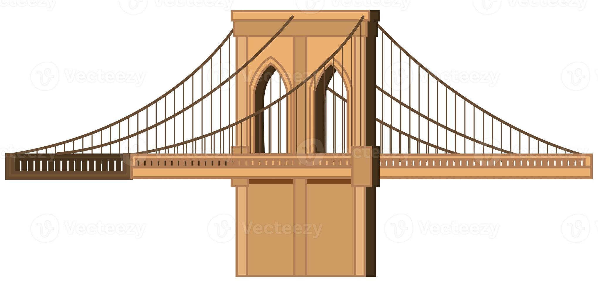 stor bro på vit bakgrund foto