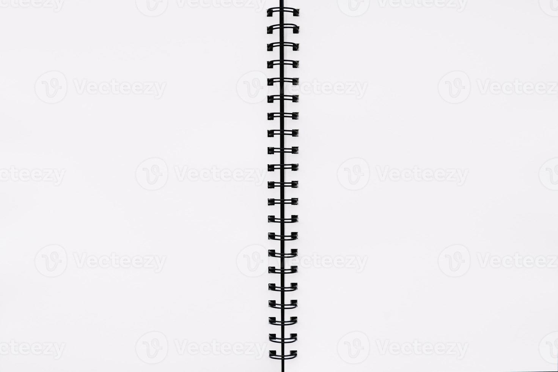 tom öppen anteckningsbok foto