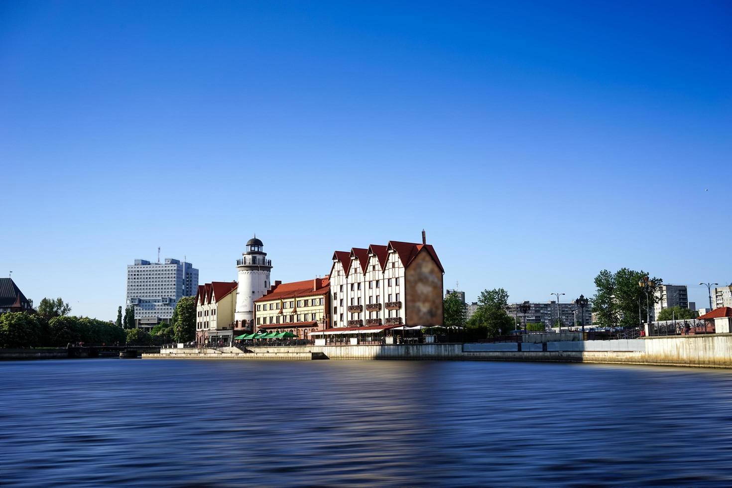 det urbana landskapet i staden Kaliningrad foto