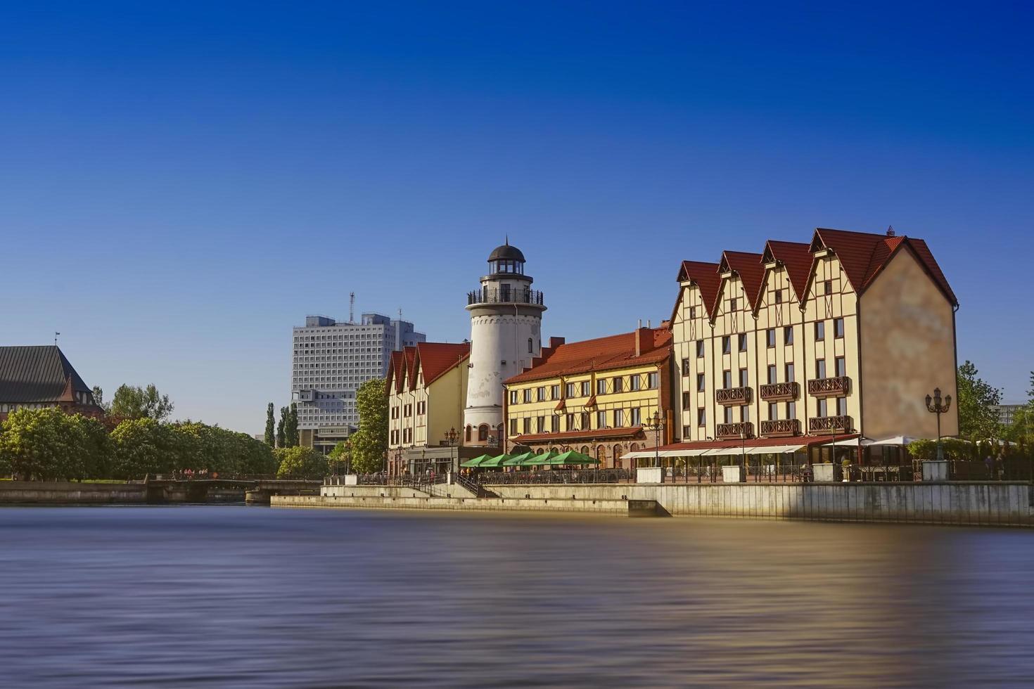 stadslandskap med arkitektur och attraktioner. foto