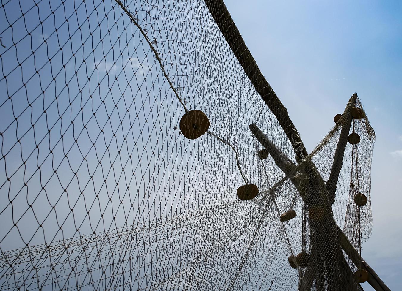 bakgrundsbild av ett fisknät foto