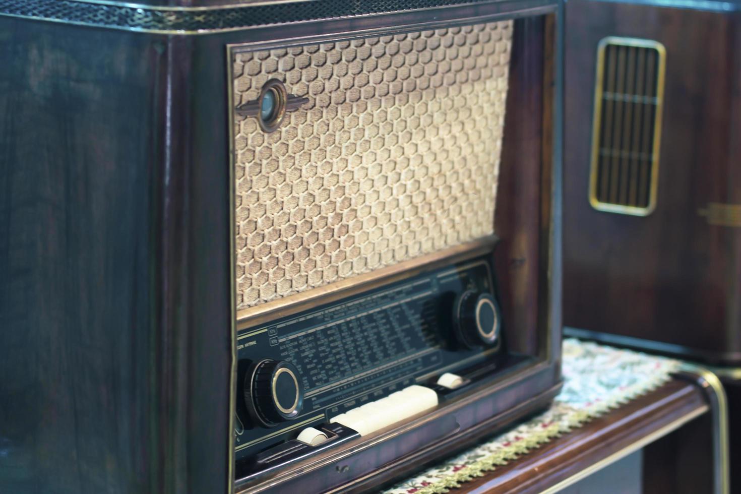 vintage radio retro teknik bakgrund foto