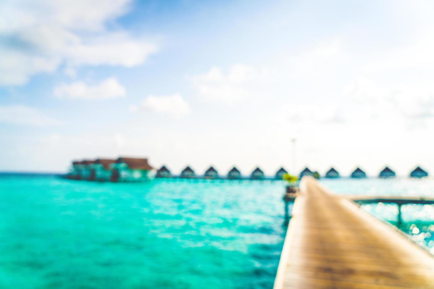 abstrakt suddighet tropisk strand och hav i Maldiverna för bakgrund foto