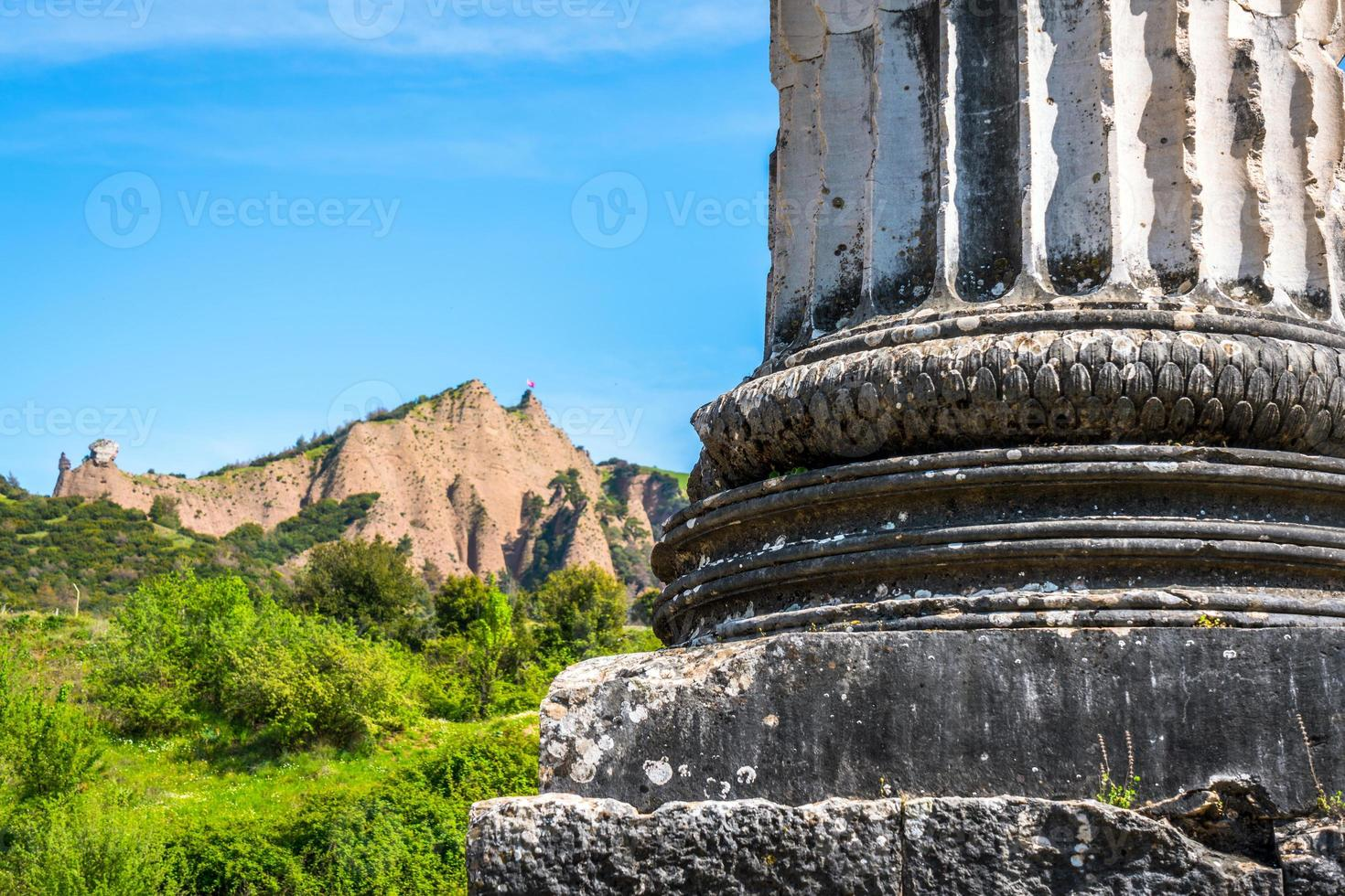 forntida historisk turism plats sardes artemis foto