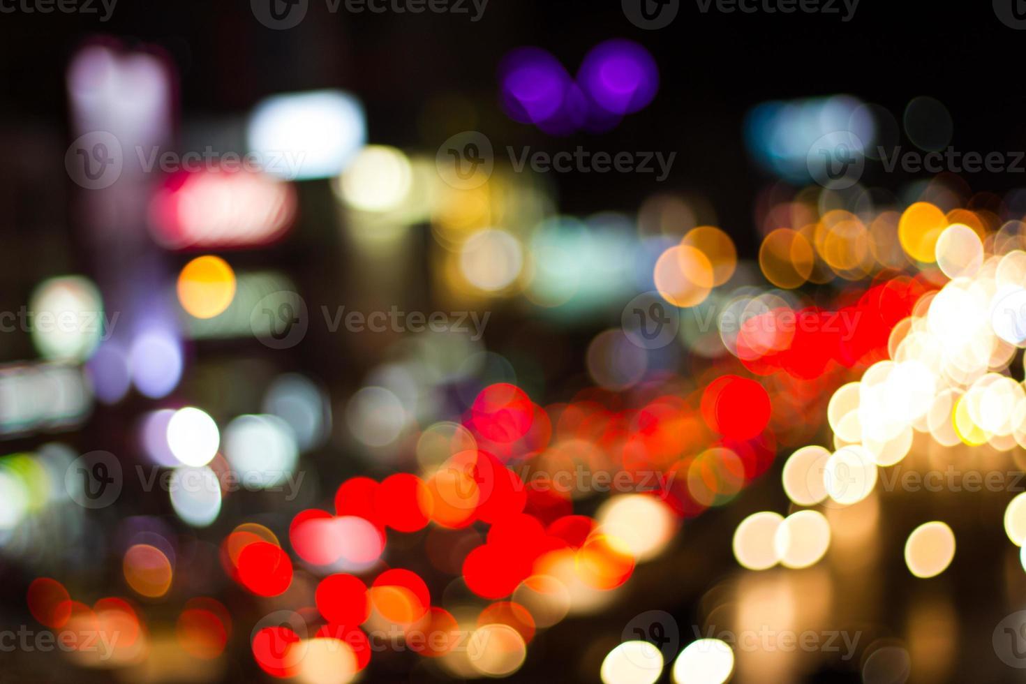 ljus från nattstadsvägen. foto