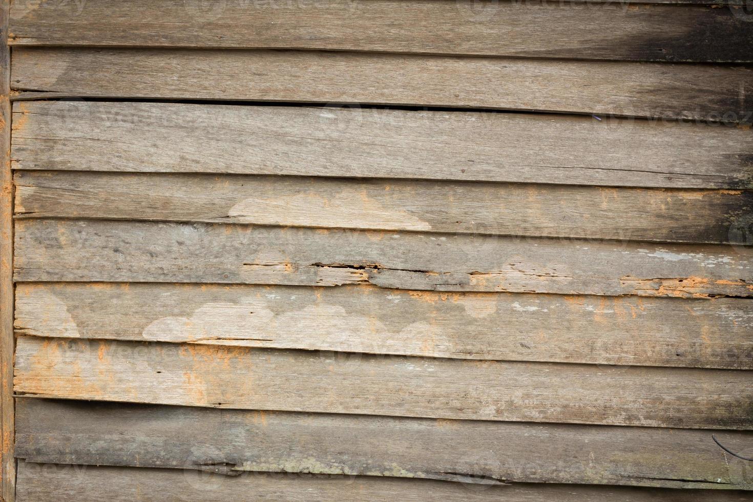 konsistens av gammal trähusvägg i asiatisk stil. foto