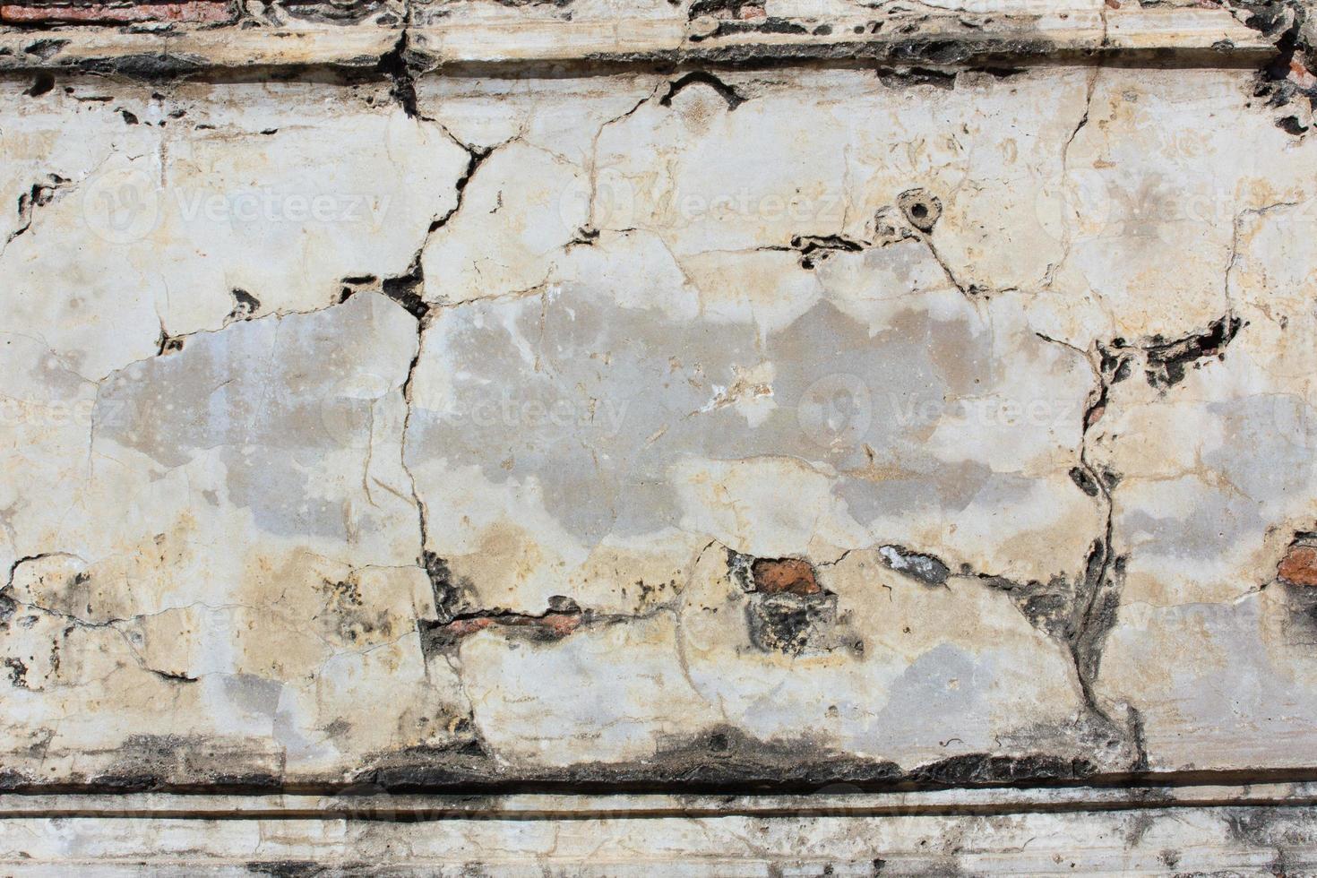 grunge betong cementvägg med spricka foto