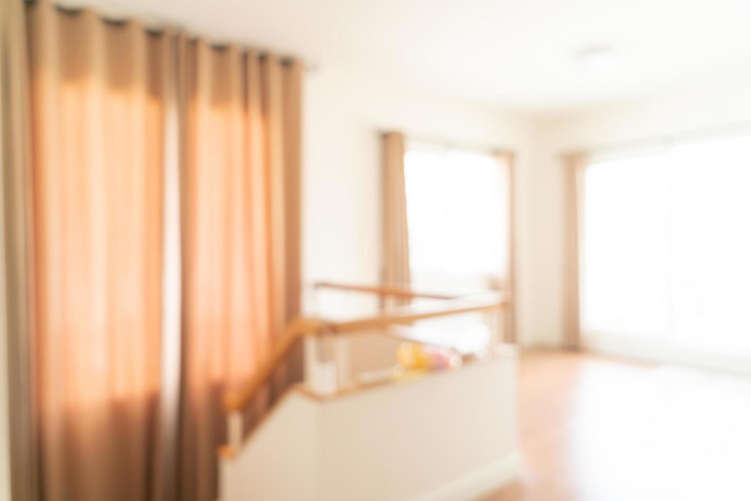 abstrakt suddighet tomt rum i ett hus för bakgrund foto