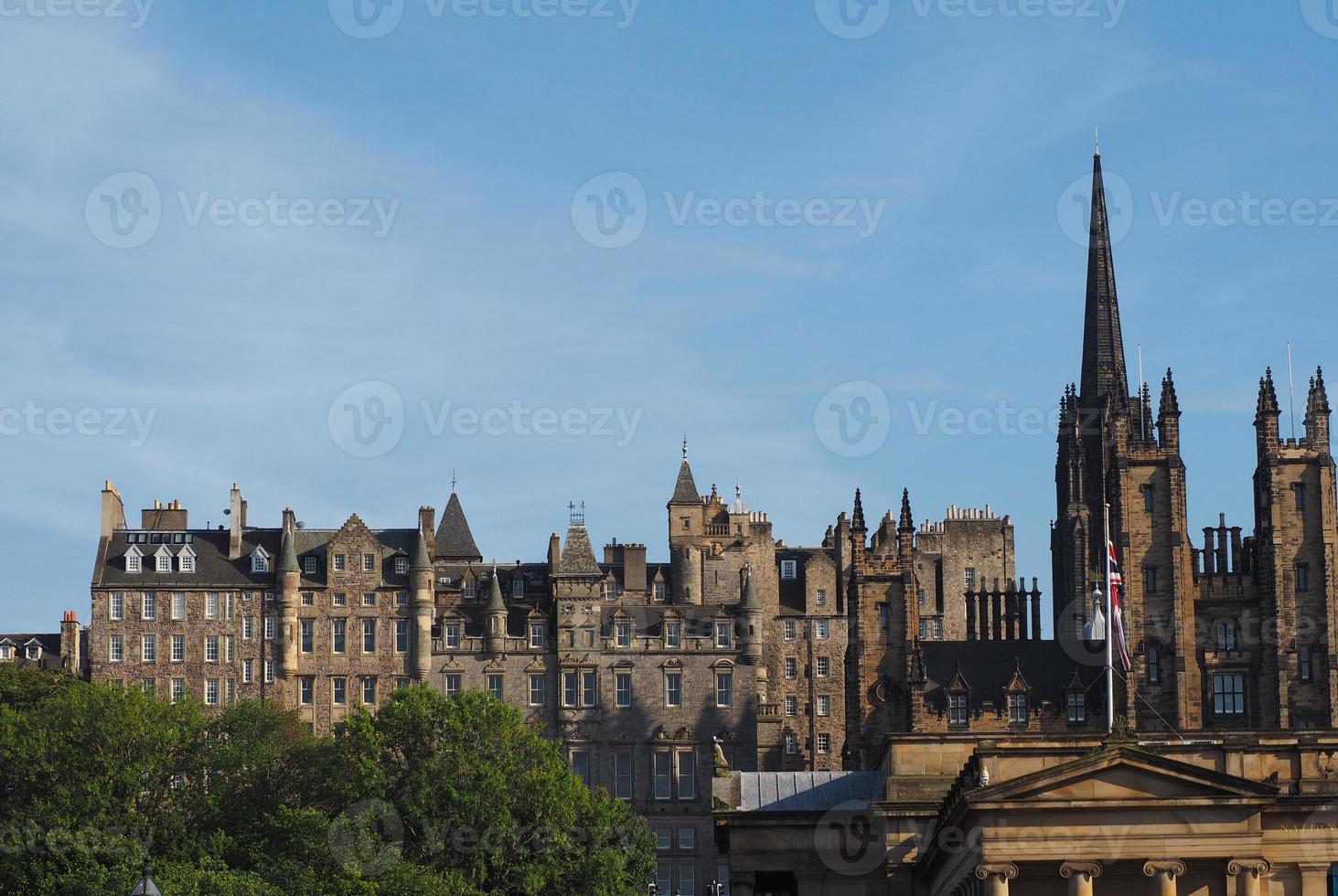 utsikt över staden edinburgh foto