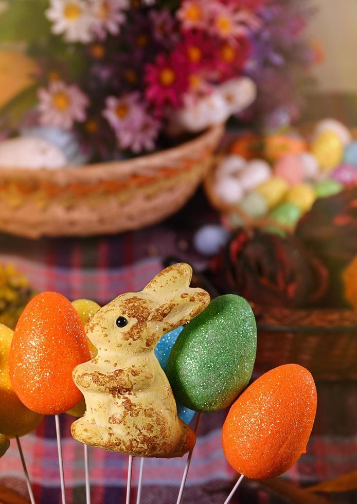 kanin och påskägg foto