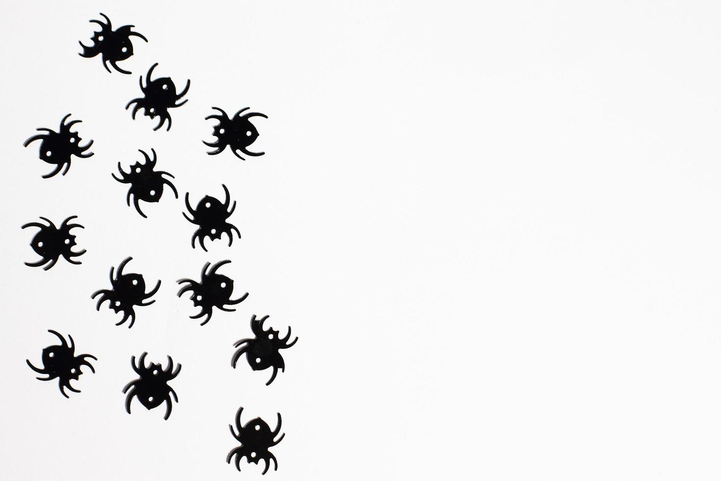 halloween ram, festlig dekoration, spindel, fladdermus bakgrund foto