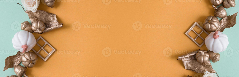 höst kreativ bakgrund med kopia utrymme foto