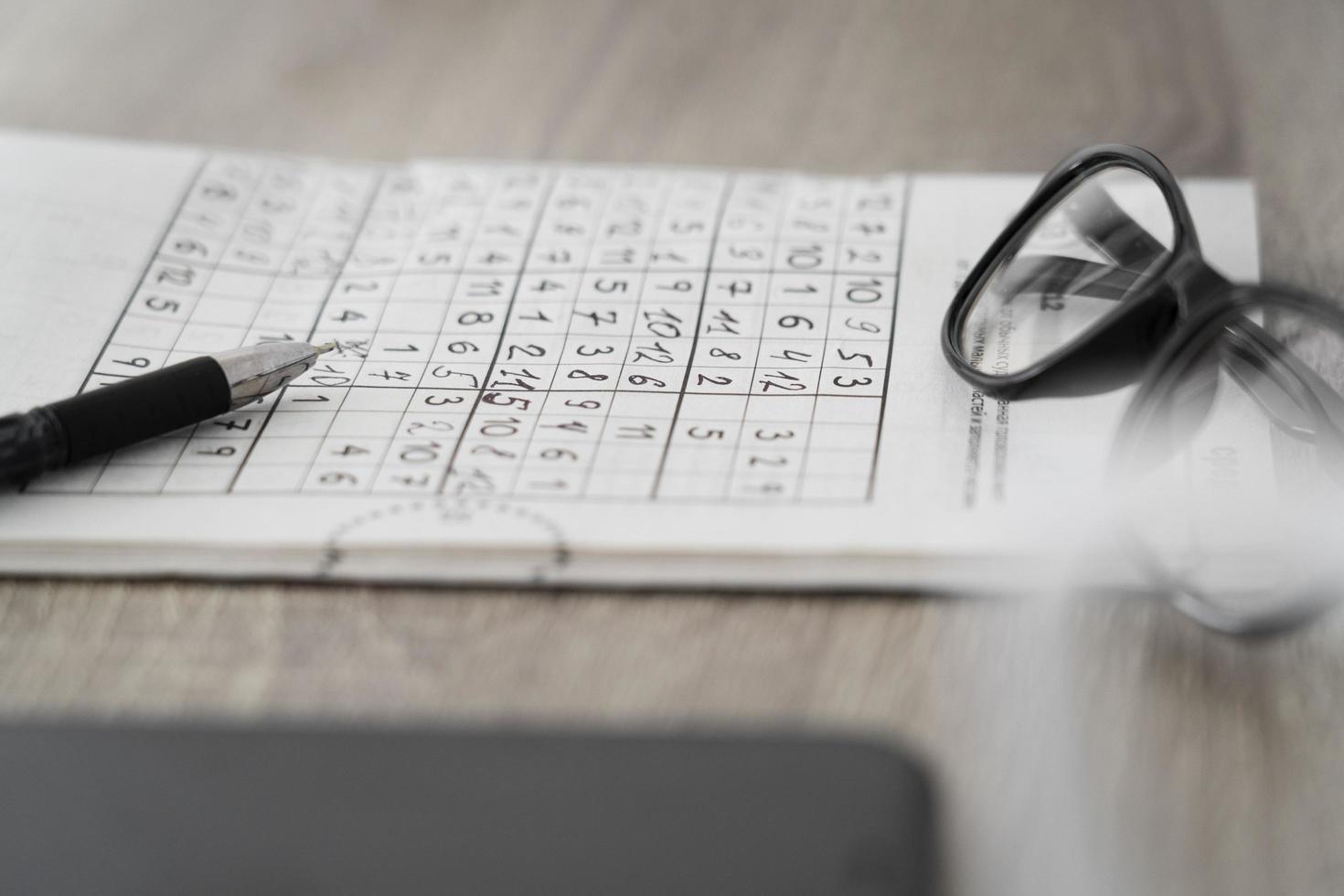 sudoku -spelsidan foto