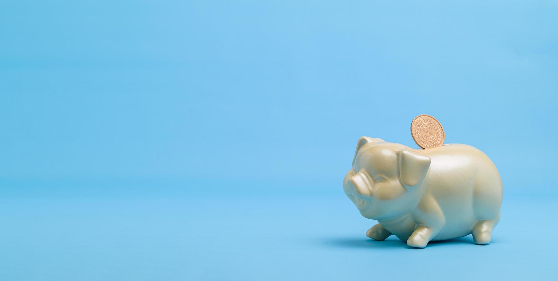 koncept spargris för att spara pengar foto