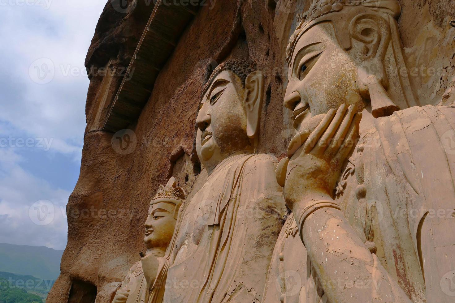 maijishan grottor konstverk foto