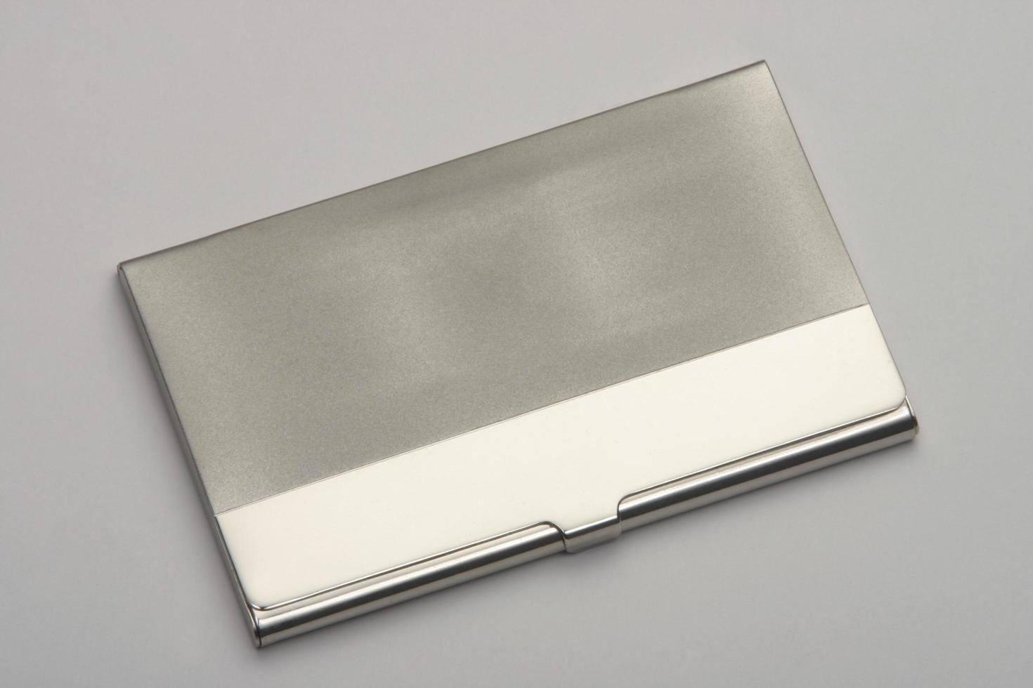 visitkortslåda av silver foto