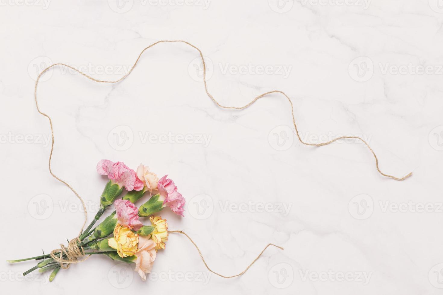 blommor på ljus bakgrund foto
