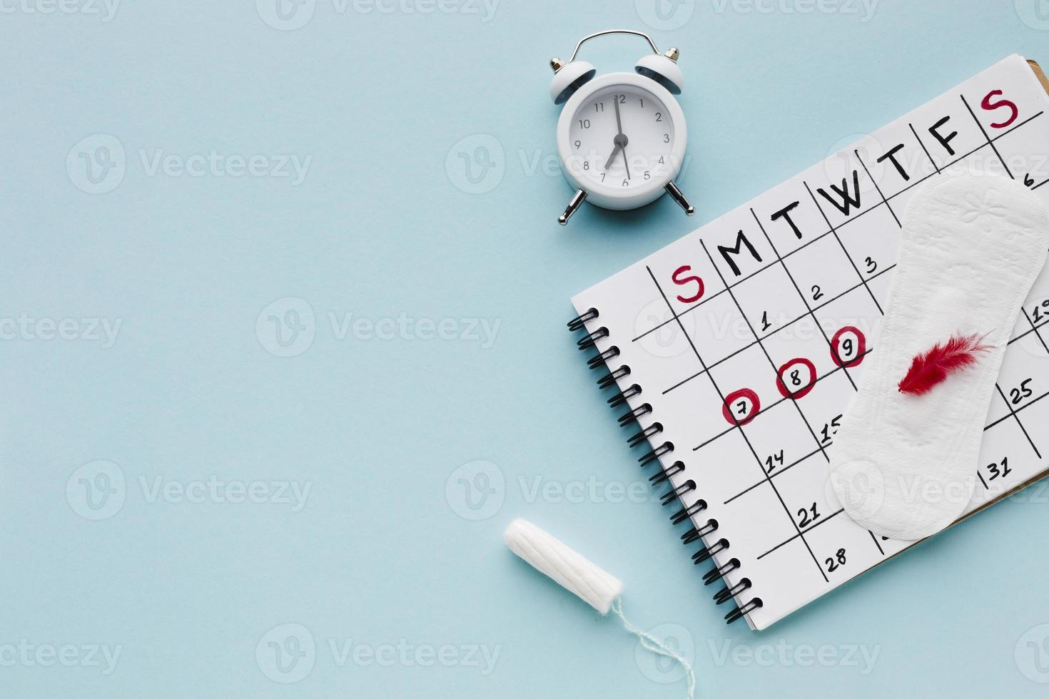 periodkalender med kopieringsutrymme foto
