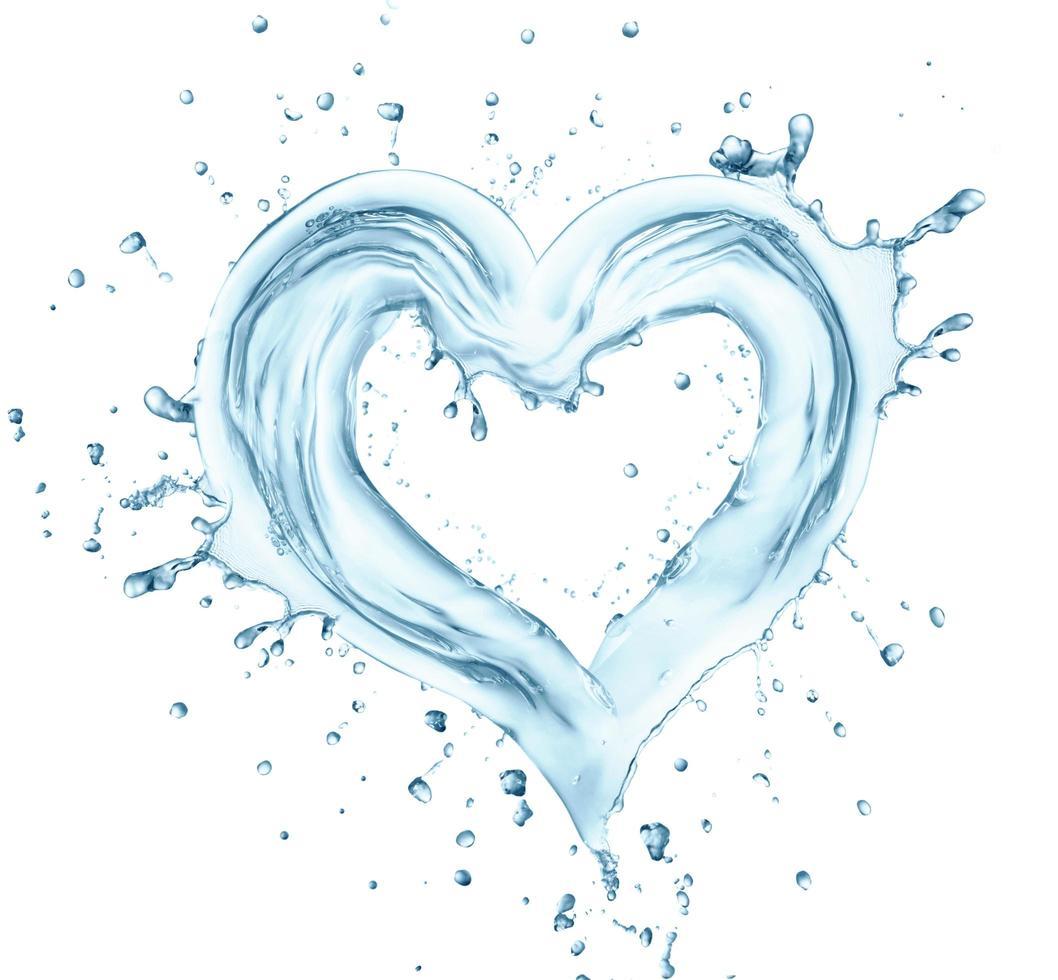 hjärta från vatten foto
