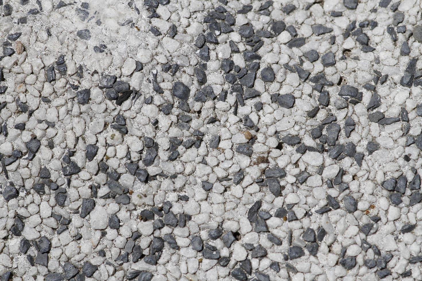 betong, gips, väggbeklädnad, golv av småsten foto