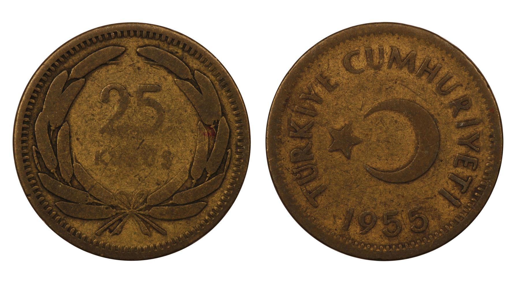 mynt i Turkiet foto