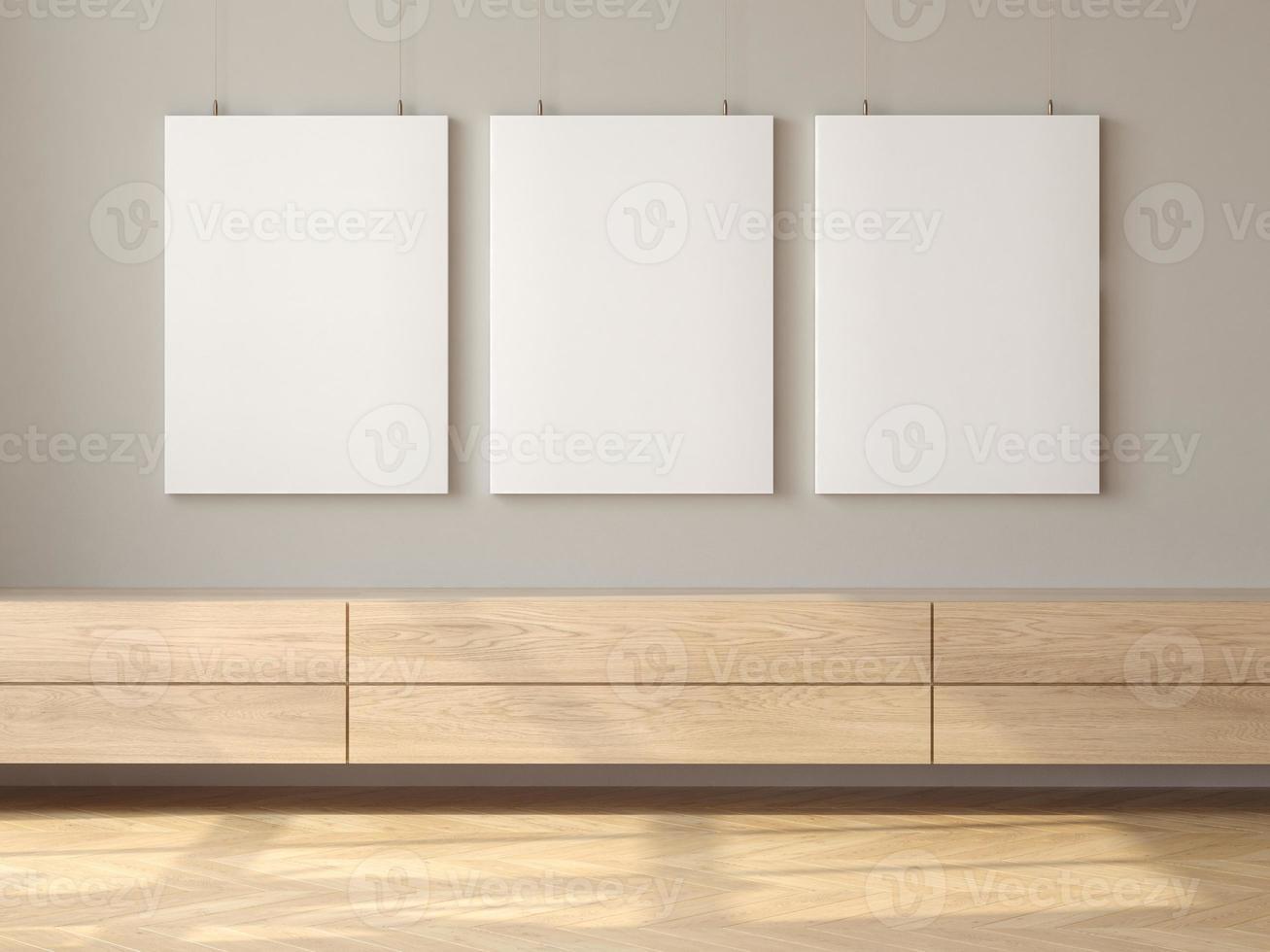 minimalistisk inredning av modernt vardagsrum 3d -rendering foto