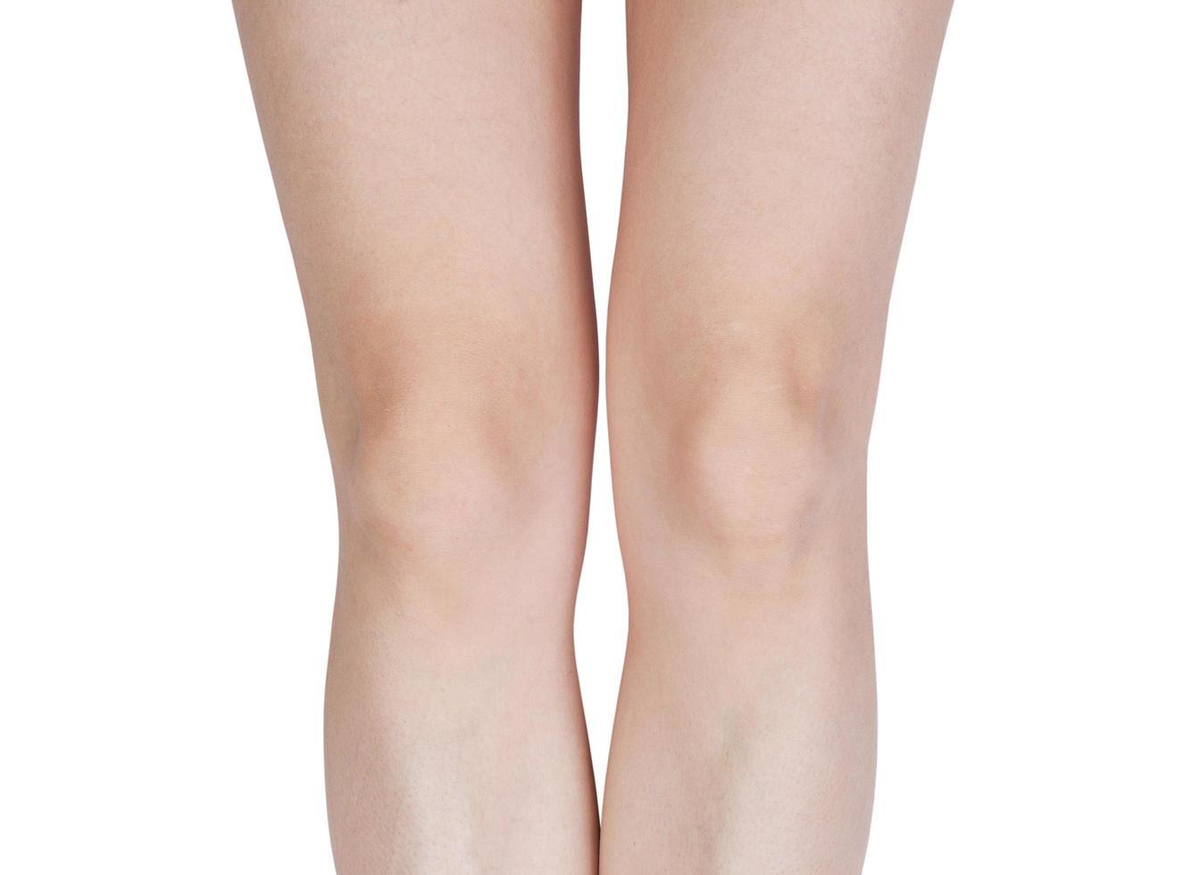 detaljer på benen med knän foto