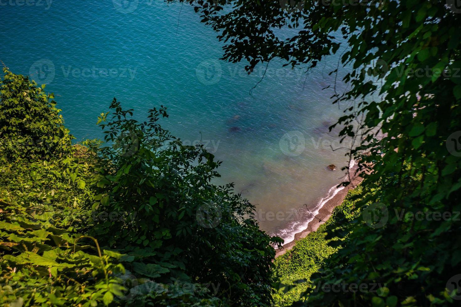 berömd utsikt från grön udde till Svarta havet foto