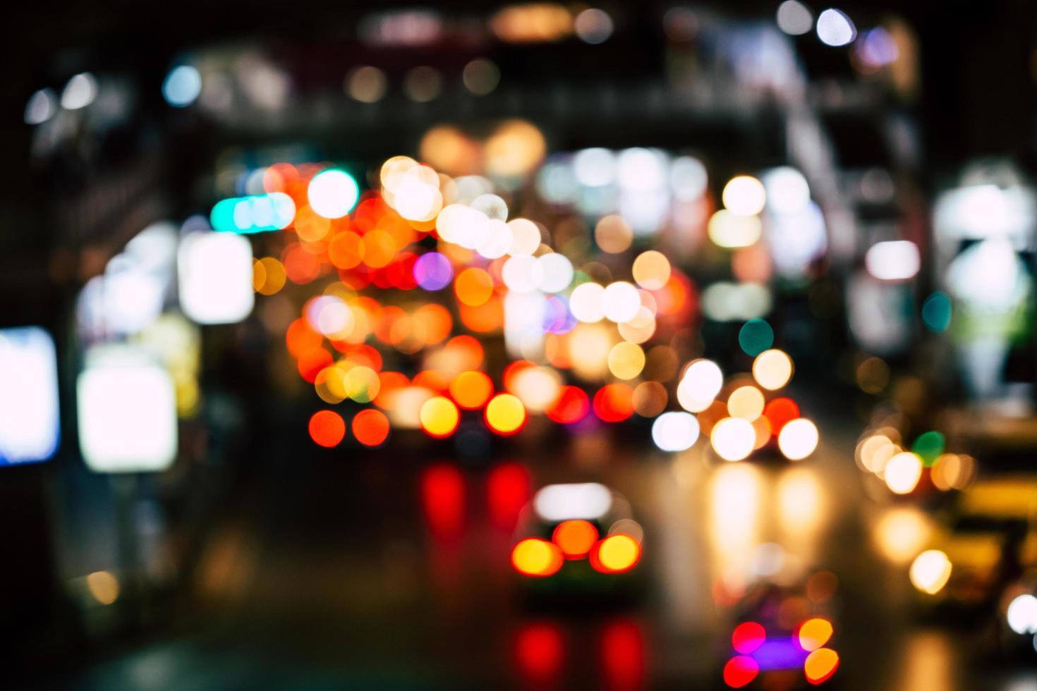 abstrakt bokeh -trafikstockning foto