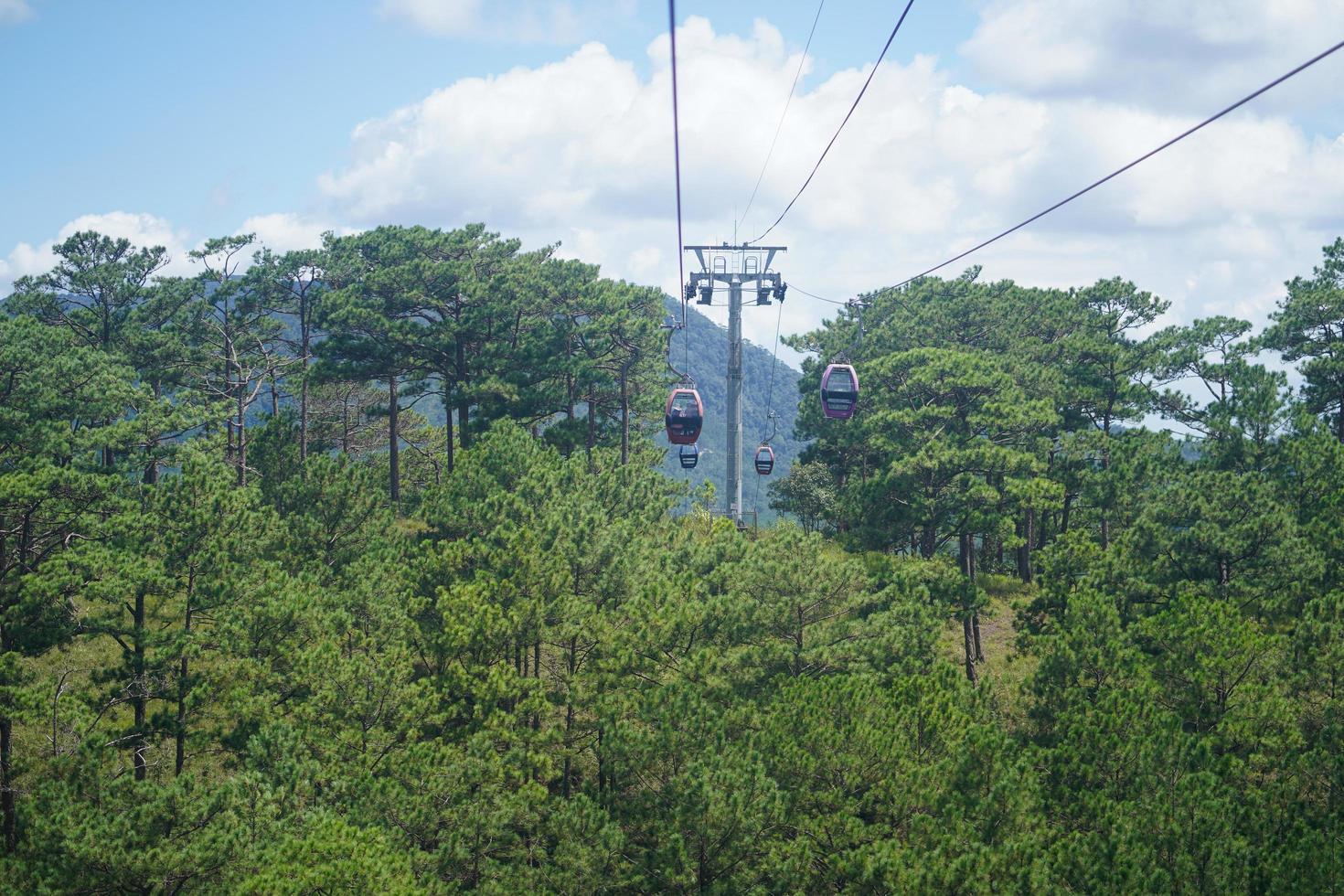 dalat linbana, väg från robin hill till truc lam kloster, vid robin hill, dalat, vietnam foto