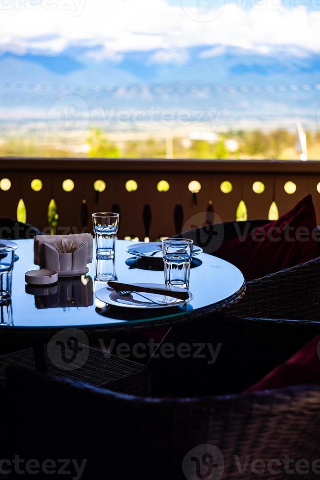 serverat bord till middag foto