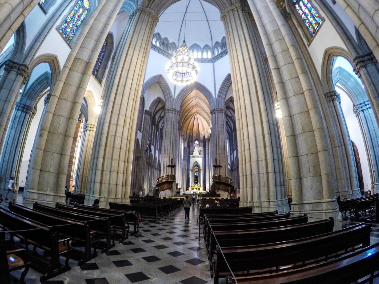 Sao Paulo, Brasilien, 01 januari 2015 - Se kyrkan i centrala Sao Paulo foto