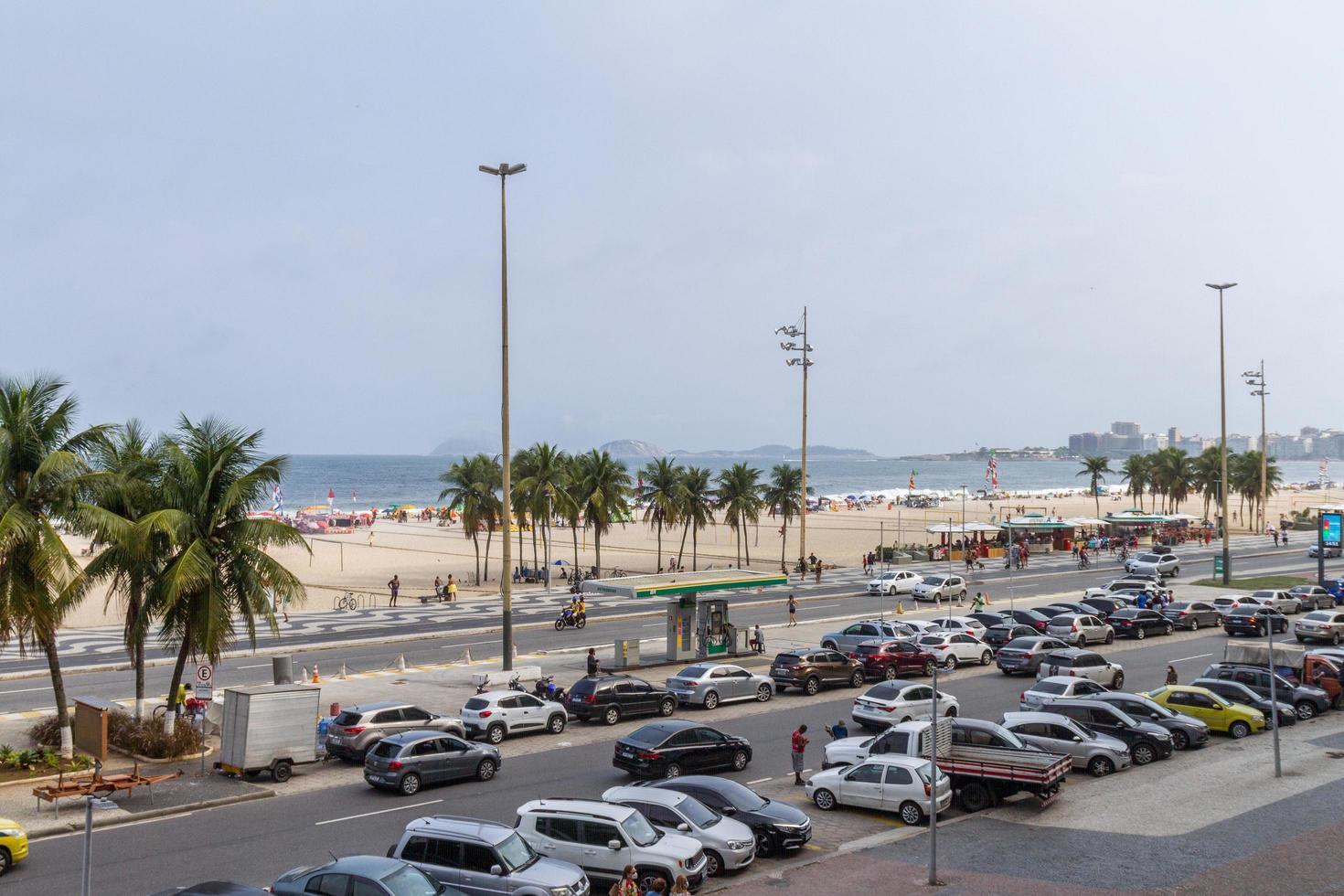 Rio de Janeiro, Brasilien, 2015 - Leme Beach i Copacabana foto