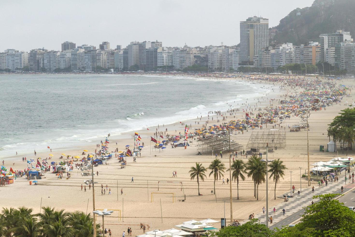 Leme Beach i Copacabana, Rio de Janeiro, Brasilien foto