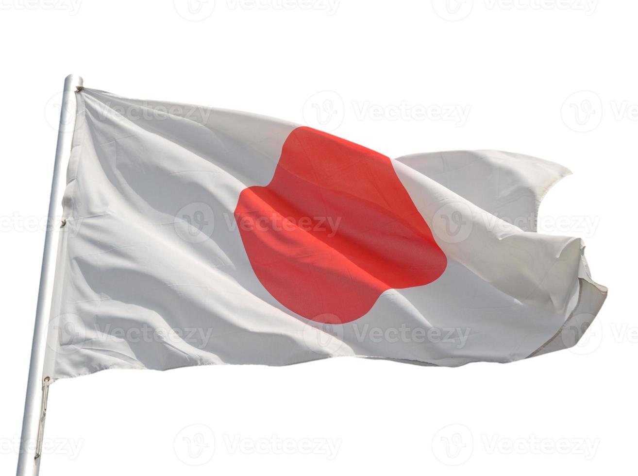 japansk flagga isolerad foto