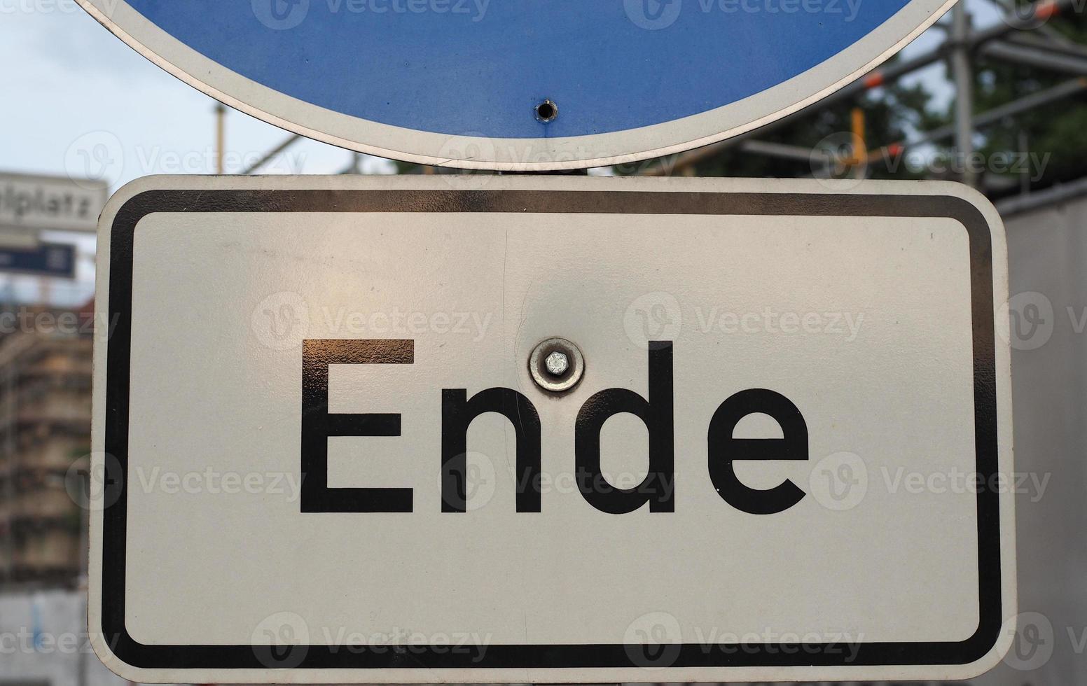 ende tecken i berlin foto